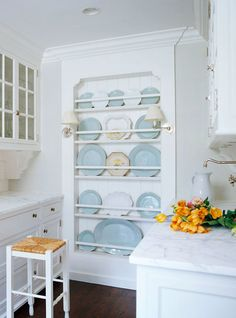 Plate Rack...don't you love it!  Every house needs one of these. Lovely and Livable Connecticut Home - Traditional Home