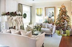 Incorporating Christmas into the living room
