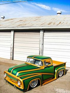 Green fancy pickup...brought to you by House of Insurance in Eugene, Oregon www.myhouseofinsurance.com