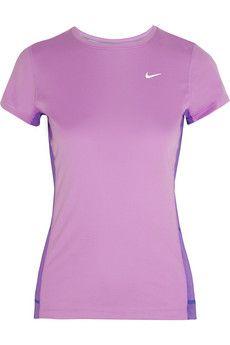 Nike Miler stretch-jersey top   NET-A-PORTER