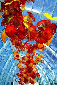... Glasshouse ... Chihuly Garden and Glass at Seattle Center ... by glass artist Dale Chihuly
