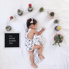 Sleeping babies and succulents? A match made in cute heaven. 3 Month Old Baby Pictures, Fall Baby Pictures, 2 Month Old Baby, Monthly Baby Photos, Monthly Pictures, Baby Timeline, Baby Letters, Sleeping Babies, Baby Milestones