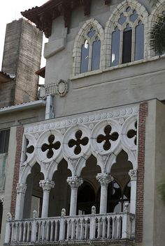 Hearst bought fragments of European pieces of architecture and  patch worked them into Hearst Castle.