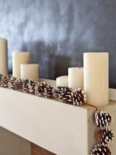Drape garland over a fireplace mantel, buffet table, banister or any space in your home that could use a little holiday cheer.