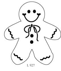 Printable Full Page Gingerbread Man Pattern Use The Pattern For