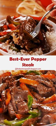 Best-Ever Pepper Steak Best-Ever Pepper Steak We're huge fans of homemade beef and broccoli , but many people are still afraid of the . Steak Stirfry Recipes, Beef Steak Recipes, Meat Recipes, Asian Recipes, Cooking Recipes, Frying Steak Recipes, Stirfry Beef, Drink Recipes, Pepper Steak Recipe Easy