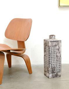 Heinz Siery; Glazed Ceramic Floor Vase for Carstens Tonnieshof, 1960.