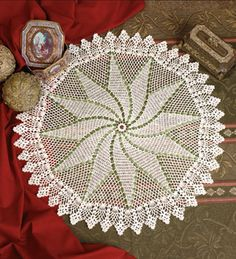 Doily of the Month- Pineapple Pinwheel - free pdf download from CrochetWorld.com
