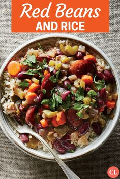 This Creole classic was actually designed for the dried kidney bean—an inexpensive staple that could simmer away while Monday's wash gets done, with a hunk of pork or sausage from Sunday night's supper. If you want a stick-to-your-ribs affair, this dish is it: The beans and brown rice are both complex carbohydrates, meaning they take longer to digest. | Cooking Light