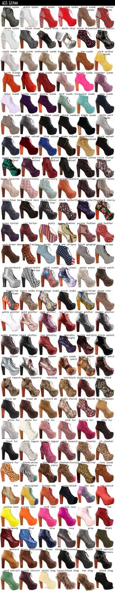 Jeffrey Campbell Lita Boots...can i have them all.?