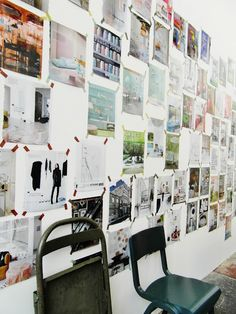 Collage wall.