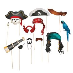 Pirate Stick Props. These could be fun to have for the photo booth?? OrientalTrading.com