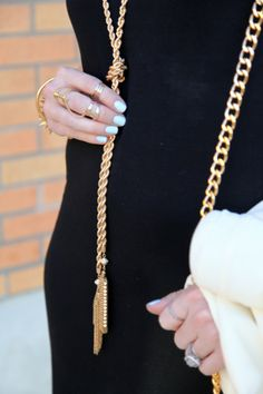 Tassel Necklace, Gold Accessories