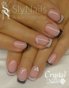 53 Trendy Nails 2018 Negras 53 Trendy Nails 2018 Negras – My World Frensh Nails, French Manicure Nails, Nails 2018, French Tip Nails, Diy Nails, Manicures, French Nail Art, Nail Tip Designs, French Nail Designs