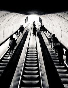 Washington DC Metro Black and White by PausePhotography on Etsy, $10.00