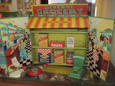 EPIC tin toy store with mini products!
