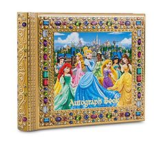 Holds all your Princess autographs photos and treasures Character art includes Snow White Cinderella Aurora Ariel Belle Jasmine Tiana and Rapunzel...