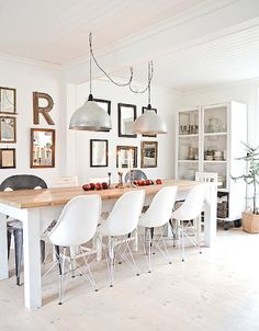 Assortment of frames and oversized letters along with our Eames Style WHITE DSR only £47.00 from http://www.lakeland-furniture.co.uk/eames-chairs/eames-eiffel-dsr-lounge-dining-chair.html