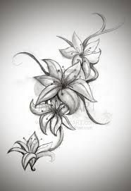 tropical flowers tattoo designs - Google Search