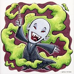 Adorable Voldemort piece, if that's even possible.