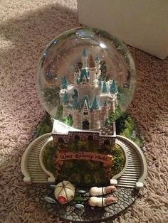 Rare Disney snow globe Water Globes, Snow Globes, Disney Snowglobes, Disney Souvenirs, Disney Kitchen, Twilight Series, Music Boxes, House Decorations, Glass Globe