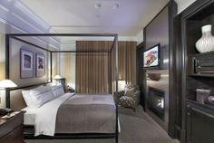 Luxury bedroom suite at a five star hotel in Boston. Next Bedroom, Master Bedroom, Hotels, Luxurious Bedrooms, Hotel Bedrooms, Awesome Bedrooms, Dream Rooms, Luxury Living, Interior Design