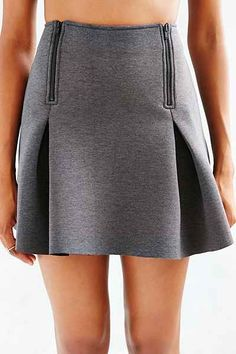Silence + Noise Space-Dye Zip-Front Skirt - Urban Outfitters