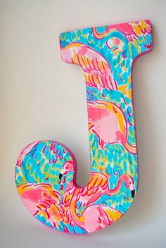 Lilly Pulitzer Letters by HandPaintedCoolers on Etsy