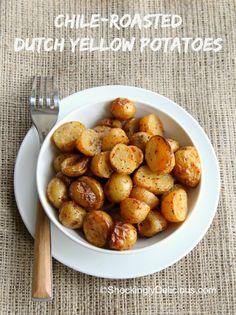 Chile-Roasted Dutch Yellow Potatoes   www.ShockinglyDelicious.com