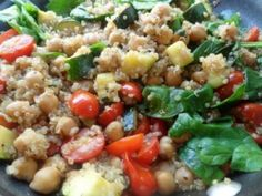 Quinoa Vegetable Bruschetta Salad by Say What You Need to Say