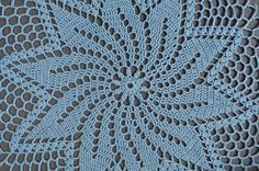New hand-crocheted doily. This beautiful, lacy doily would be an elegant centerpiece, a lovely accent for your home. Color: blue. Please note that colors shown may vary depending on your monitor settings. Material: 100% mercerized cotton. Size approximately: 12 in (32 cm). Please, dont hesitate to email me if you have any questions.