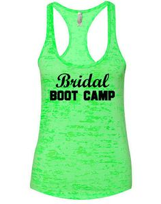 Work out tank top for the bride! Bride work out shirt. Cute bride tank top.