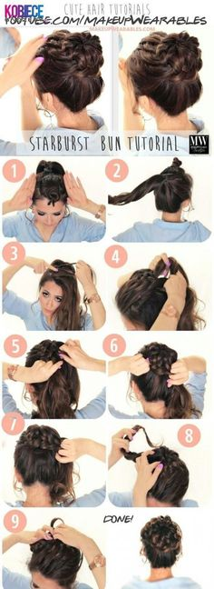 bob #beauty #hairstyle #hair #braid #hair styles #topknot (wavy bob tutorial video)