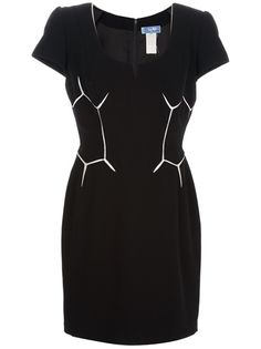 THIERRY MUGLER VINTAGE Geometric Patterned Dress