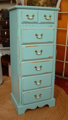 tall dressers for sale. Reclaimed Vintage 6 Dr Covington Blue Pottery Barn Paint Shabby Chic Lingerie Tall Dresser Chest Of Dressers For Sale E