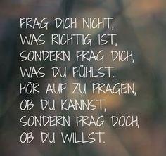 #fühlen #wollen