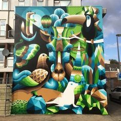 @eelcovirus nailed this masterpiece in Rotterdam by muralfestival