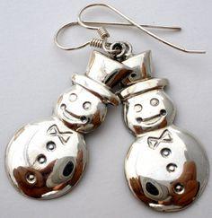 Sterling Silver Snowman Earrings Christmas Dangle Pierced Vintage Jewelry 925   Jewelry & Watches, Vintage & Antique Jewelry, Fine   eBay!