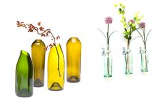Bottles with flowers