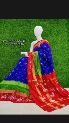Ikkat Pattu Sarees, Pochampally Sarees, Bollywood Saree, Pink Saree, Half Saree, Saree Wedding, Korean Fashion, Fashion Photography, Cotton