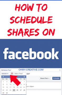How To Schedule Shares On Facebook - Oh My Creative