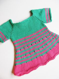 Stripe lovers, search no more! Strimma is an adorable and easy baby tunic which will sate your hunger for new seamless baby knits! Worked top down and with worsted weight, this will be finished before you know it!