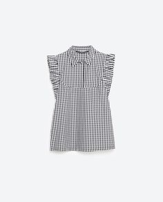 GINGHAM POPLIN TOP-Prints-TOPS-WOMAN | ZARA United States