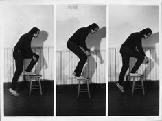 shihlun:    Vito Acconci, Step Piece (document of the activity), 1970, collection Fotomuseum Winterthur.