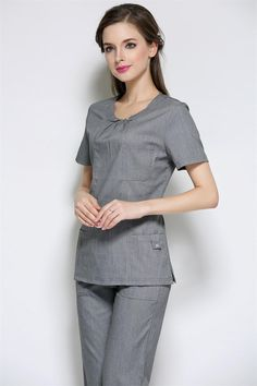 2015 Rushed Medical Suit Lab Coat Women Hospital Medical Scrub Clothes Uniform Fashion Design Slim Fit Breathable Whole Sale