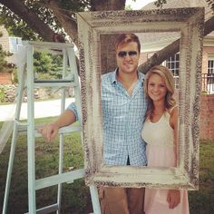 Chad and Fallon at Caleb and Kelsey's wedding shower; beautiful! (that is my favorite dress of Fallon's; it's so pretty!!)