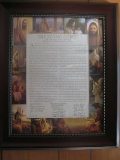 "Make a ""The Living Christ"" picture collage for FHE"