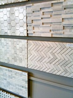 behind the range backsplash: chevrons, but pointing up and down. or the hexagons.