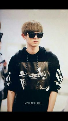 Off white hoodie exo park chanyeol