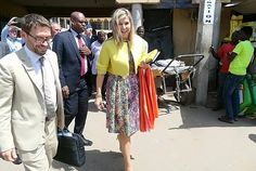 The entire outfit of Queen Maxima is by the Belgian brand, Natan. Nigerian Diamond Bank. President, Yemi